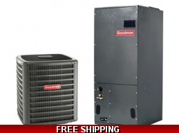 4 Ton 16 SEER Central Air Conditioning System Goodman GSX16/ASPT